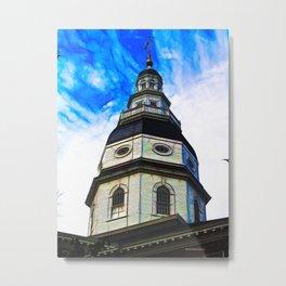 State House Annapolis Metal Print