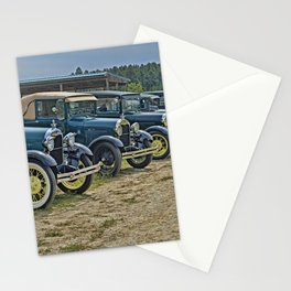 Vintage Car Lineup Stationery Cards