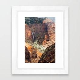 Waimea Canyon Rust Framed Art Print