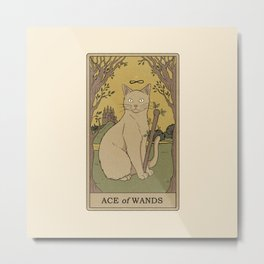 Ace of Wands Metal Print