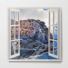 Bella Italia   OPEN WINDOW ART Metal Print