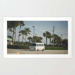 Slammed Bus Art Print