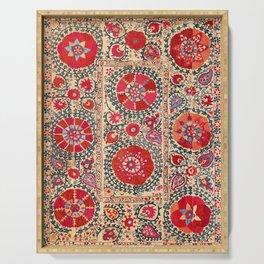 Samarkand Suzani Southwest Uzbekistan Embroidery Serving Tray