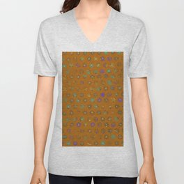 Primitive Sun Print--faded, distressed, tribal Unisex V-Neck