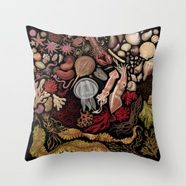 Intertidal Life of the North Atlantic (with species list) Throw Pillow