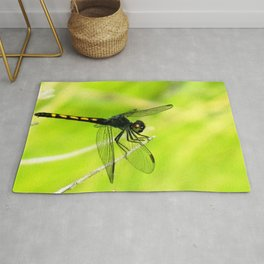 Watercolor Dragonfly, Baskettail 01, Janes Island, Maryland Rug