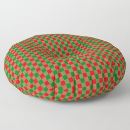 Large Red and Green Christmas Gingham Check Tartan Plaid Floor Pillow