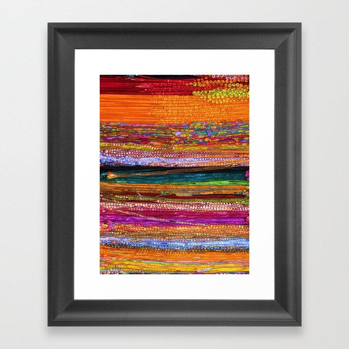Indian Colors Gerahmter Kunstdruck