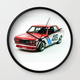 BRE Racing 510 Vintage JDM SCCA Championship Classic Automobile No. 2 Wall Clock