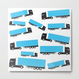 Semi-Trailer Truck Transportation Trucks Metal Print