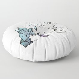 Polar bear Floor Pillow