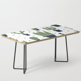 Cactus Plants Pattern- Green Coffee Table