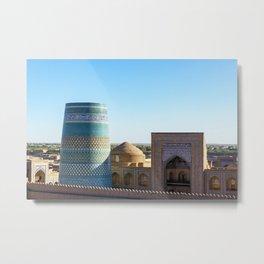 Khiva, Uzbekistan Metal Print