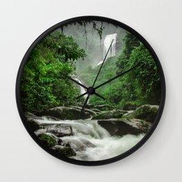 Deer Waterfall -  Bocaina - Brazil Wall Clock