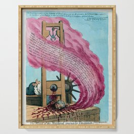 French Revolution Guillotine Depiction of the Execution of Louis XVI  Serving Tray