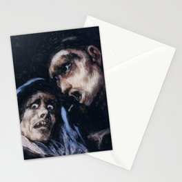 Monk Talking to an Old Woman by Francisco Goya Stationery Cards
