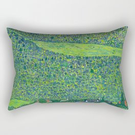 "Gustav Klimet ""Litzlberg on Lake Attersee"" Rectangular Pillow"