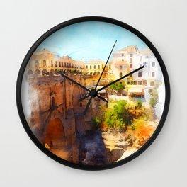 Ronda, Spain Wall Clock