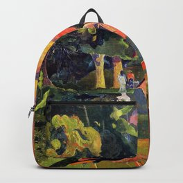 """Paul Gauguin """"Landscape with Peacocks"""" Backpack"""