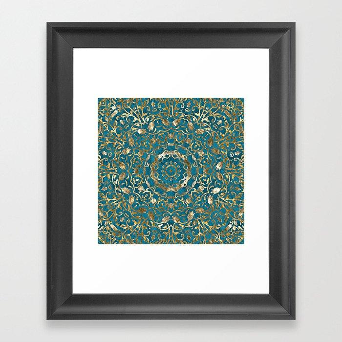 Moroccan Style Mandala Gerahmter Kunstdruck