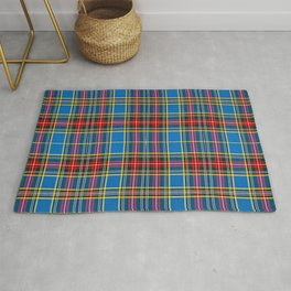 Tartan blue and red Rug
