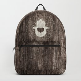 Boho Heart in hand Backpack
