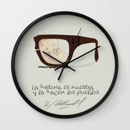Salvador Allende Lente - TrincheraCreativ Wall Clock