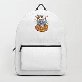 Raccoon Pumpkin, It's Show Time Funny Halloween Horror Scary Backpack