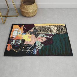 Lady with a view Rug