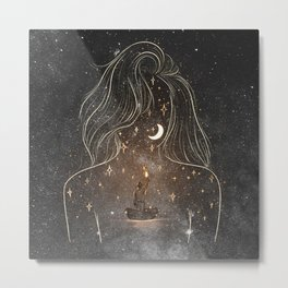 I see the universe in you. Metal Print