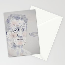 Michael slapped with a fairly small fish Stationery Cards
