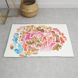 170626 Patches of Thoughts 3 | Abstract Shapes Drawing | Abstract Shapes Art |Watercolor Painting | Rug