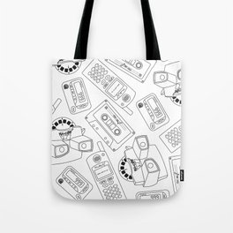 Old Gadgets Tote Bag