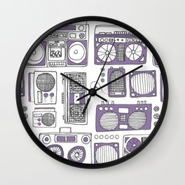 Boom Boxes Wall Clock