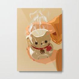 Lunar Cat Metal Print