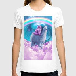 Rainbow Llama - Cat Llama T-Shirt