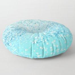 Seafoam Aqua Ocean MERMAID Girls Glitter #1 #shiny #decor #art #society6 Floor Pillow