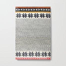 Norwegian Sweater Metal Print