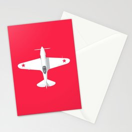 MiG-3 WWII Fighter Aircraft - Crimson Stationery Cards