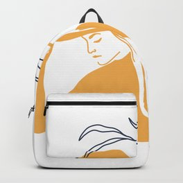 Wild Women Leaf Illustrations Backpack