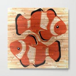 Clownfish Pisces Metal Print