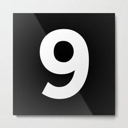 Number 9 (White & Black) Metal Print