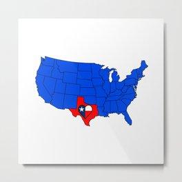 The State of Texas Metal Print