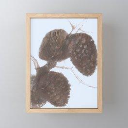 Fir cones - Autumnal treasure Framed Mini Art Print