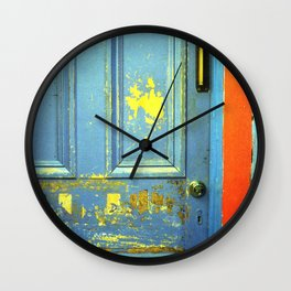 Primary Colors Door Wall Clock