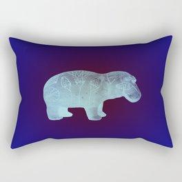 WILLIAM THE HIPPO I Rectangular Pillow