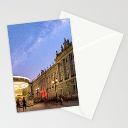 Royal Palace and carousel in Oriente Square, Madrid Stationery Cards