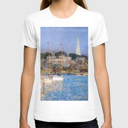 Newport Harbor, Newport, Rhode Island - Cat Boats by Frederick Childe Hassam T-shirt