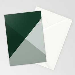 Moss and Sage Green stud geo colorblock Stationery Cards