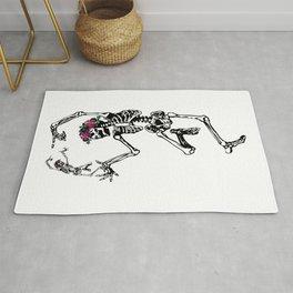 Two Dancing Skeletons | Day of the Dead | Dia de los Muertos | Rug
